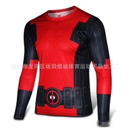 online shopping Deadpool quick drying T shirts Cycling Fitness clothing Mesh cloth Tee tops XS XL for Men Long and short sleeved DHL shipping C554