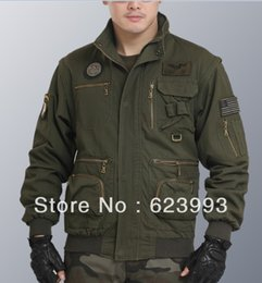 Wholesale Fall Autumn Winter Military style jackets outdoor clothing stand collar jackets for men long sleeve short jacket cardigan