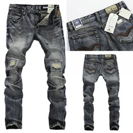 Wholesale hot sell New Men Straight Designer men Jeans Jeans Trousers of Straight Designer Jeans Size R604