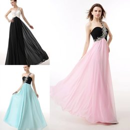Wholesale 2015 Black Long Chiffon Bridesmaid Dress Floor Length Vestidos De Feista Cheap party Dress In Stock Size to Maid Of honor Prom WXC