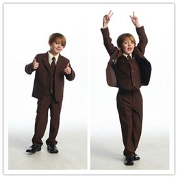 Wholesale 2015 Collection New Design Handmade Boys Formal Occasion Suits Three Buttons Handsome Gentleman Suit For Any Formal Occasions SH1409250008