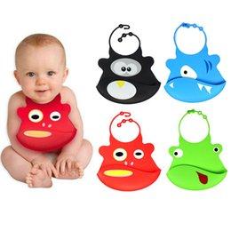 Wholesale Cartoon Skin Baby Infant Bibs Eat Solid Convenience Health Silicone Waterproof Bib Towel wu