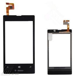20Pcs / lot de noir Remplacement d'origine de 100% pour les pièces extérieures de numériseur de l'écran tactile de panneau de Nokia Lumia 520 libèrent le bateau