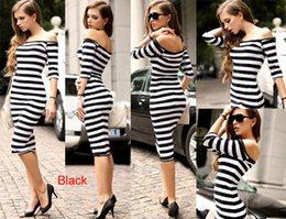 Wholesale 2015 New Spring Clothing Sexy Stripe Casual Dress Long Slinky Bodycon dress plus size women clothing