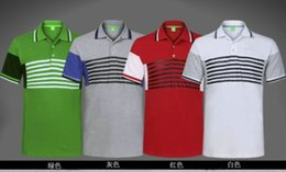 Wholesale New sell hot Men s polos Cotton Lapel man fashion Brands splice Tee shirts male Casual blouse Shirts M XXL