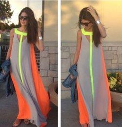 Wholesale Women Boho Patchwork Long Dress Summer Style Plus Size Vestidos Longo High Street Casual Gowns Party Fashion Maxi Dress