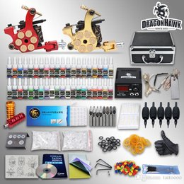 Wholesale Complete Tattoo Kit Guns Machines Sets Pieces Disposable Needles Power Supply GD