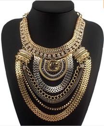Moda Boho estilo exagerado Declaração Cadeia Multinível Colares Mulheres Vestido Jóias Choker frete grátis CE1284