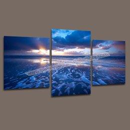 Dropship 3 шт холсте Digital Wall Картина Современная Ocean Wall декоративно-прикладного искусства Печать картина маслом Картина для гостиной