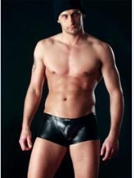 Wholesale Cockcon Mesh Underwear New Sexy Mens Male Man See through Mesh Underwear Short Boxer leather Briefs Lingerie Transparent