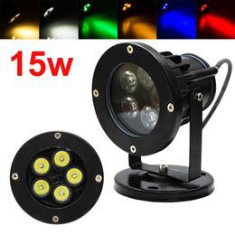 Discount outdoor ip68 12v garden lights Wholesale-15W Outdoor LED Garden  Spike Lights 12V IP68