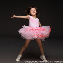 Wholesale Pettigirl New Baby Girl Summer Dress Pink Stripe TuTu Dress For Kids Lovely Princess Party Dress Baby Girl Clothes GD30105