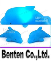 online shopping LLFA7835 Funny Qute LED Flashing Light Baby kits bath bathroom toys Duck lamp Dolphin lamp