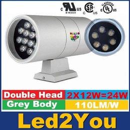 Decoración de la pared de la lámpara de pared del envío libre de 24W LED al aire libre enciende para arriba abajo la pared del LED exterior decorativo hogar moderno LED