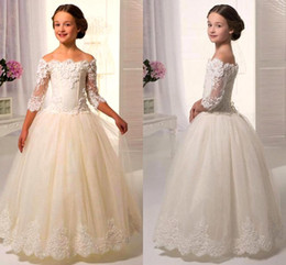 Discount Fall Color Flower Girl Dresses | 2017 Fall Color Flower ...