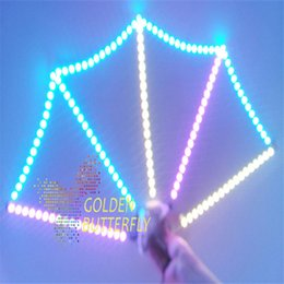 Wholesale Customized LED Hand Fans Competitive Luminous LED Chinese Fans for Men and Women V Voltage SMD and SMD Chip Lights