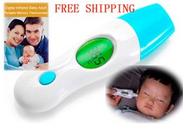 CALIENTE !!! 5pcs / lot caliente! Portable 8 en 1 termómetro de infrarrojos para el bebé digital Adulto Frente Pantalla Cuerpo Oído Multifuncional Meter