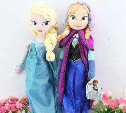 Forzen la historieta del bebé de los niños relleno de la felpa Juguetes Elsa y Anna princesa muñecas 40 / 50cm muñecas de los niños congelados Juguetes