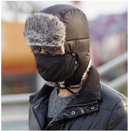Wholesale Trapper Hats Winter Skull Hat For Men Outdoor Thickened Ear Cap Boy Ski Hats M1775