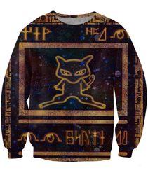 Wholesale 2015 New Styles Ancient Mew Women Men Sweatshirt Unisex Full Tee Couples Sweats D All Over Print T shirt Tops Casual Shirt T shirt W099