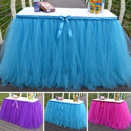 discount wedding decorations tulle free shipping diy tulle tutu table skirt for wedding decoration event baby