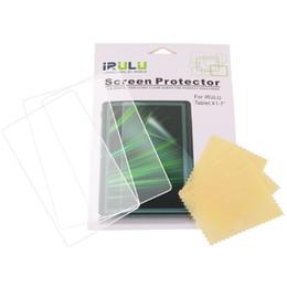 Los Estados Unidos de 3 PC Nueva pantalla del claro del protector de la película para iRulu Tablet PC para 7