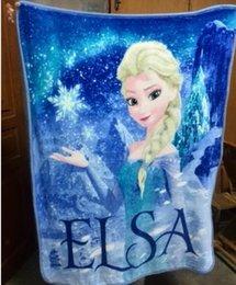 Wholesale Frozen Elsa Raschel Blanket frozen Dairy queen elsa blanket cm Flannel blanket
