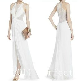 Wholesale new blue Fashion White Blue Bridal Evening long cheap white prom dresses Business Party Mother sexy Cocktail Dresses Gown