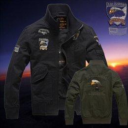 Wholesale Fall Air Force Jacket Winter Pilot Bomber Jacket Flight Uniform Men Military Style Coat