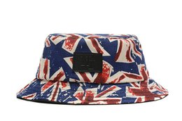 Wholesale NY Kids Buckets Hat UK Flag Sun Hat buckets Cap Bucket Hat Sunbonnet Kids Top Hat Girls Topee Fedora Hat Children Caps Hat cm Y HQ
