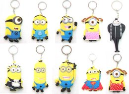 Wholesale Hot sale Despicable Me Minion Toy Rubber KeyChain Superman DIfferent Style keychain