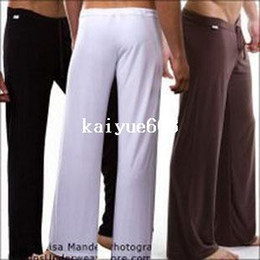 Wholesale 1pcs mens sleep bottoms leisure sexy sleepwear for men Manview yoga long pants panties underwear pants