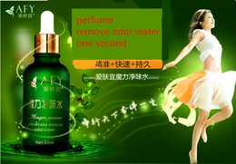 Wholesale 3pcs AFY natural plant extract one second perfume remove body odor underarm foot odor bromidrosis water