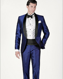 Blue Shiny Suit For Men Online | Blue Shiny Suit For Men for Sale