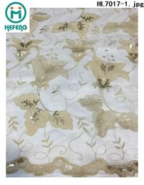 Wholesale 2015 new design african swiss voile lace french net lace fabric with flower for lady dresses party evening HL7017