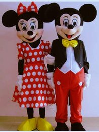 Wholesale Mickey Mouse mascot cartoon character costume EVA animal Mickey and Minne cartoon adult size party fancy dress