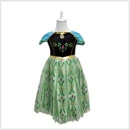Wholesale frozen dress summer dress tutu kids dress girl party dress anna princess costume baby girls elsa dress new children dress