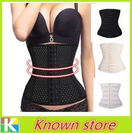 Wholesale Spiral Steel Boned Breathable Underwear Belt Waist Trainer Body Shaper Underbust Corset Plus Size S XL