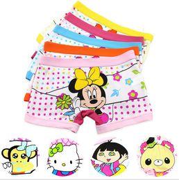 2017 underwear sell 5 styles Hot selling Modal boxer kids underwear baby cartoon brief kids panties kids girls underwear