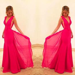 Fushia Chiffon Prom Dresses