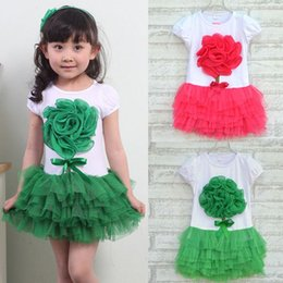Wholesale Baby Girls One Piece Dress D Flower Party Tutu Dresses Princess Bowknot Costume Clothing age for y