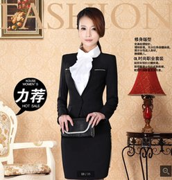 Wholesale Business attire couture dress skirt suits ladies fashion ladies dress suit interview during the spring and autumn overalls