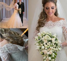 Nouvelles robes de mariée en dentelle avec manches longues 2016 Vestidos de Noiva autocollantes Romantique sirène Robes de mariée de mariage de plage Robes Robe 2015