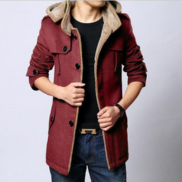 Discount Men Red Pea Coat | 2017 Men Red Pea Coat on Sale at