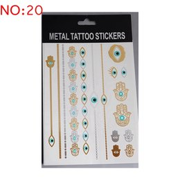 Wholesale 104Kinds Design New Metallic Gold Body Art Temporary Tattoo Sexy Non Toxic Waterproof Flash Tattoos Sticker Bling Bling Flash Tats cm