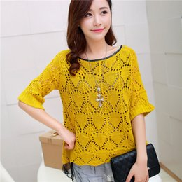 Wholesale NEW Spring summer Sweater women fashion clothes cardigan Sexy lace hollow out sweater