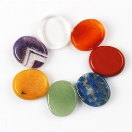 Wholesale Assorted pieces Palm stone Jade Crystal Reiki Healing Chakra Aventurine with Free pouch