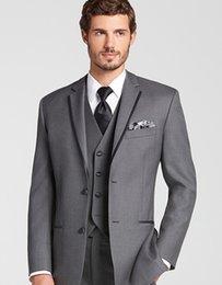 Wholesale 2016 Groom Wear Slim Fit Groom Suit Black Groom Tuxedo Custom Made Wedding Suits For Mens Suits Wedding Groom Prom Suit Jacket Pants Vest
