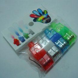 dedo de la iluminación LED de luz luces láser dedo anillo de dedo rayo láser 4 colores con el bolso del opp