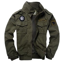 Wholesale Military style jackets for men pilot coat with turn down collar usa army air force bomber jacket
